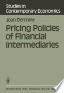 Pricing Policies of Financial Intermediaries Book