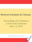 Between Scientists   Citizens