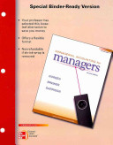 Loose leaf Managerial Accounting for Managers copyright 2011