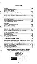 Pocket Directory of the California Legislature.
