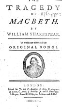 The Tragedy of Macbeth ... To which are Added All the Original Songs ebook