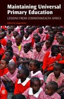 Maintaining Universal Primary Education