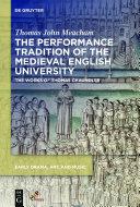 The Performance Tradition of the Medieval English University Pdf/ePub eBook