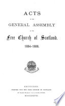 Acts of the General Assembly of the Free Church of Scotland ...