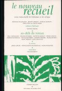 Le nouveau recueil N° 64 Septembre-Novembre 2002 : Au-delà du roman