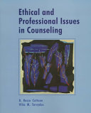 Ethical And Professional Issues In Counseling