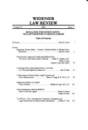 Widener Law Review