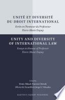 Unité et diversité du droit international/Unity and Diversity of International Law