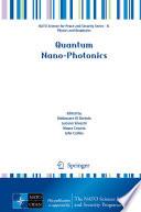 Quantum Nano-Photonics