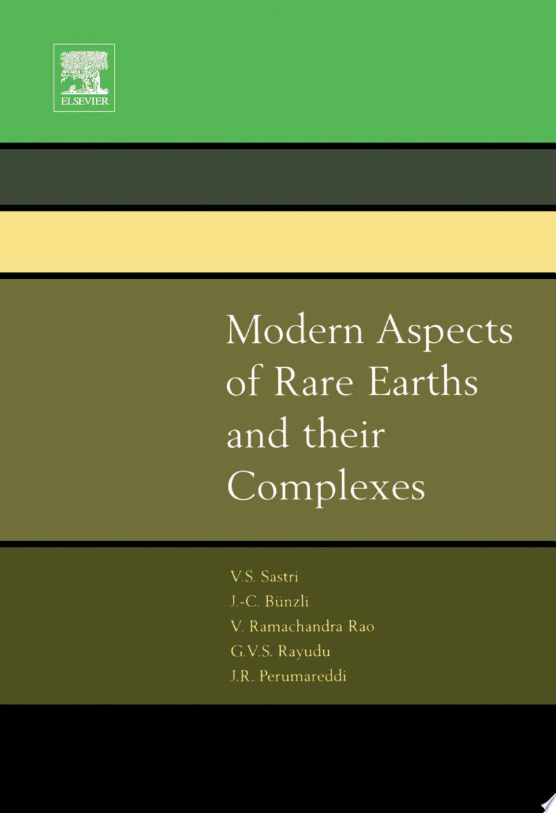 Modern Aspects of Rare Earths and their Complexes banner backdrop