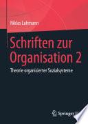 Schriften zur Organisation 2