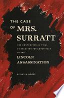 The Case of Mrs  Surratt