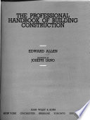 The Professional Handbook of Building Construction