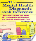 The Mental Health Diagnostic Desk Reference Book