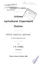 Annual Report of the Arizona Agricultural Experiment Station