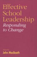 Effective School Leadership Pdf/ePub eBook