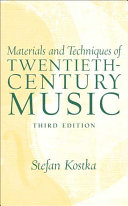 Materials and Techniques of Twentieth-century Music