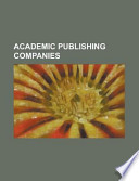 Academic Publishing Companies