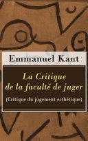 La Critique de la faculté de juger (Critique du jugement esthétique) [Pdf/ePub] eBook