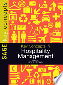 Key Concepts in Hospitality Management Book