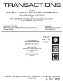 Transactions Of The American Nuclear Society Book PDF