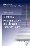 Functional Renormalization and Ultracold Quantum Gases Book