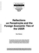 Reflections on Perestroyka and the Foreign Economic Ties of the USSR