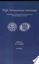 High Temperature Materials Book PDF