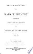 Annual Report of the Board of Education Together with the     Annual Report of the Secretary of the Board Book PDF