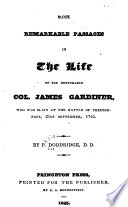 Some Remarkable Passages in the Life of the Honourable Col. James Gardiner