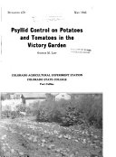 Psyllid Control on Potatoes and Tomatoes in the Victory Garden