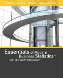 Essentials of Modern Business Statistics with Microsoft Excel (Book Only)