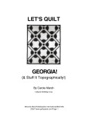 Let's Quilt Georgia and Stuff It Topographically!