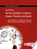 Service Quality in Leisure  Events  Tourism and Sport  2nd Edition