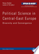 Political Science in Central East Europe Book PDF