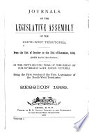 Journals Of The Legislative Assembly Of The Northwest Territories