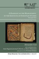 A Handlist of the Manuscripts in the Institute of Ethiopian Studies, Volume Two ebook