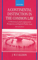 A Continental Distinction in the Common Law