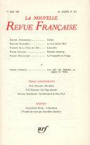 La Nouvelle Revue Française N' 185 (Mai 1968)