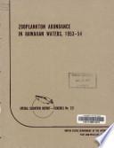 Zooplankton Abundance in Hawaiian Waters  1953 54 Book PDF