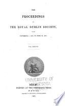 Proceedings of the Royal Dublin Society