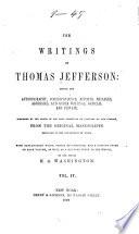 The Writings of Thomas Jefferson  Correspondence Book