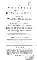 Pdf A Treatise Concerning Heaven and Hell, and of the Wonderful Things Therein, as Heard and Seen