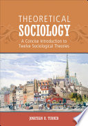 Theoretical Sociology Book