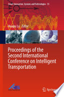 Proceedings of the Second International Conference on Intelligent Transportation Book