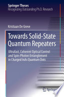 Towards Solid State Quantum Repeaters Book