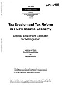 Pdf Tax Evasion and Tax Reform in a Low-income Economy