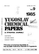 Yugoslav Chemical Papers