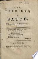 The Patriots  A Satyr