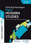 Higher Modern Studies 2016-17 SQA Past Papers with Answers